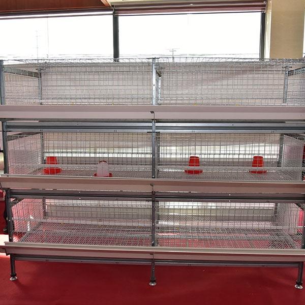 1.25m0.8m框架式双面料槽肉鸡笼